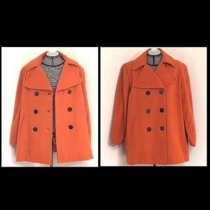 ⭐️JG Hook orange wool blend peacoat